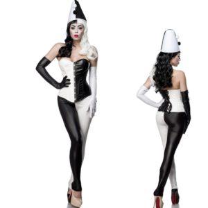 Pustni kostum Classic Harlequin. črno/bel - Kategorije  Pustni kostumi 2020  Pravljična bitja