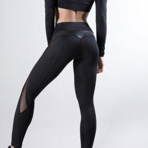 Pajkice za vadbo legice joga mreza crne