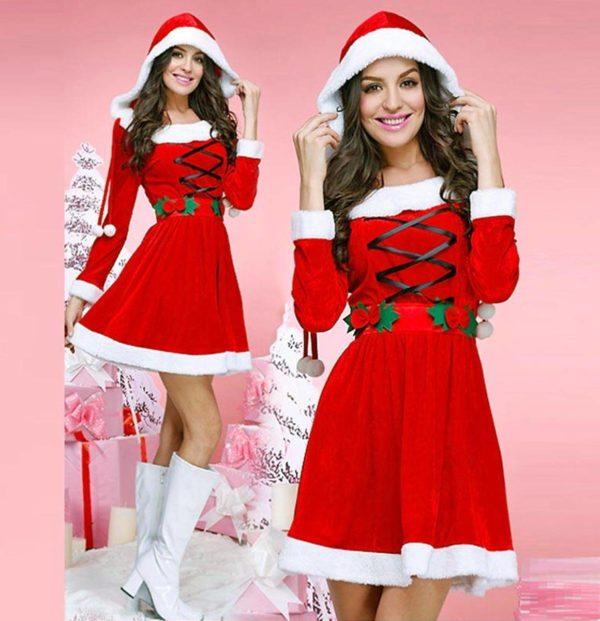 """Božični kostum Santa Claus Beauty. rdeč"" - Kategorije  ""Pustni kostumi 2020  BOŽIČNI KOSTUMI"""