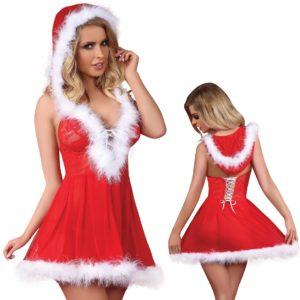 """Božično perilo. oblekica Livco Snowflake. rdeča"" - Kategorije  ""Spodnje perilo  BOŽIČNO SPODNJE PERILO"""