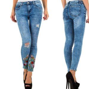 """""""Jeans hlače Laulia. modre"""" - Kategorije  """"Oblačila  Hlače in kombinezoni  Jeans hlače"""""""