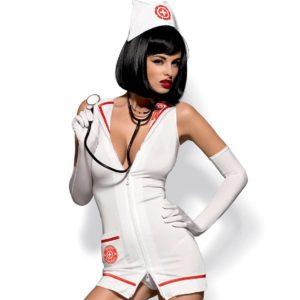 """Kostum medicinska sestra Obsessive Emergency dress - Kategorije  """"Erotično perilo  Erotični kostumi"""""""