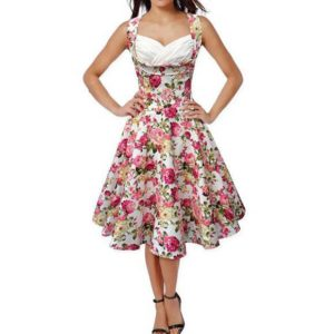 """""""Poletna obleka Florinia. pink/bela"""" - Kategorije  """"Oblačila  Obleke in tunike  Poletne obleke"""""""