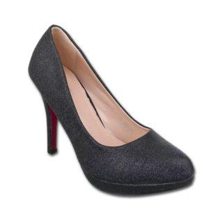 """Salonarji z odebeljenim podplatom XQ123 črni - Kategorije  """"Ženski čevlji  Salonarji"""