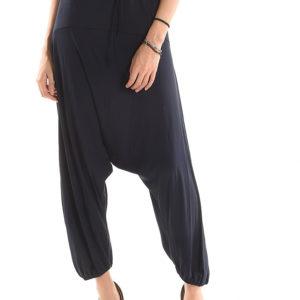 Haremke-hlače s spuščenim korakom iz viskoze in elastana