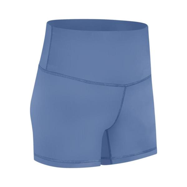 Kratke elastične hlače za vadbo in prosti čas modre