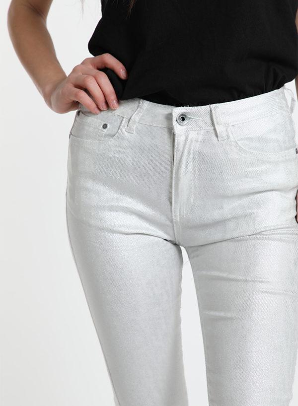 Elegantne in udobne hlače iz svetlečega in raztegljivega blaga