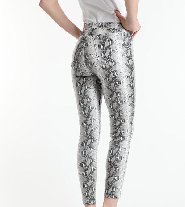 Bombažne hlače z vzorecem kače