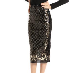 Elegantno črno krilo z belščicamo Elegance na Spedenani