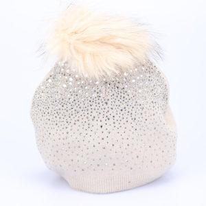 Kapa zimska s kristalčki in cofom