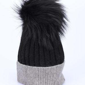 Kapa zimska črna s cofom