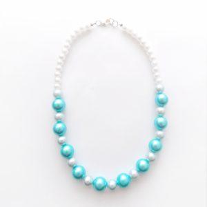 Ogrlica iz modrih in bleih perl za čudovito darilo