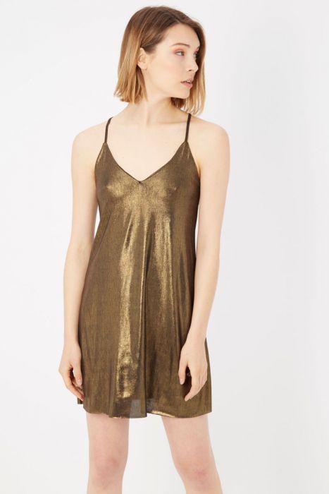 Kratka obleka zlate barve